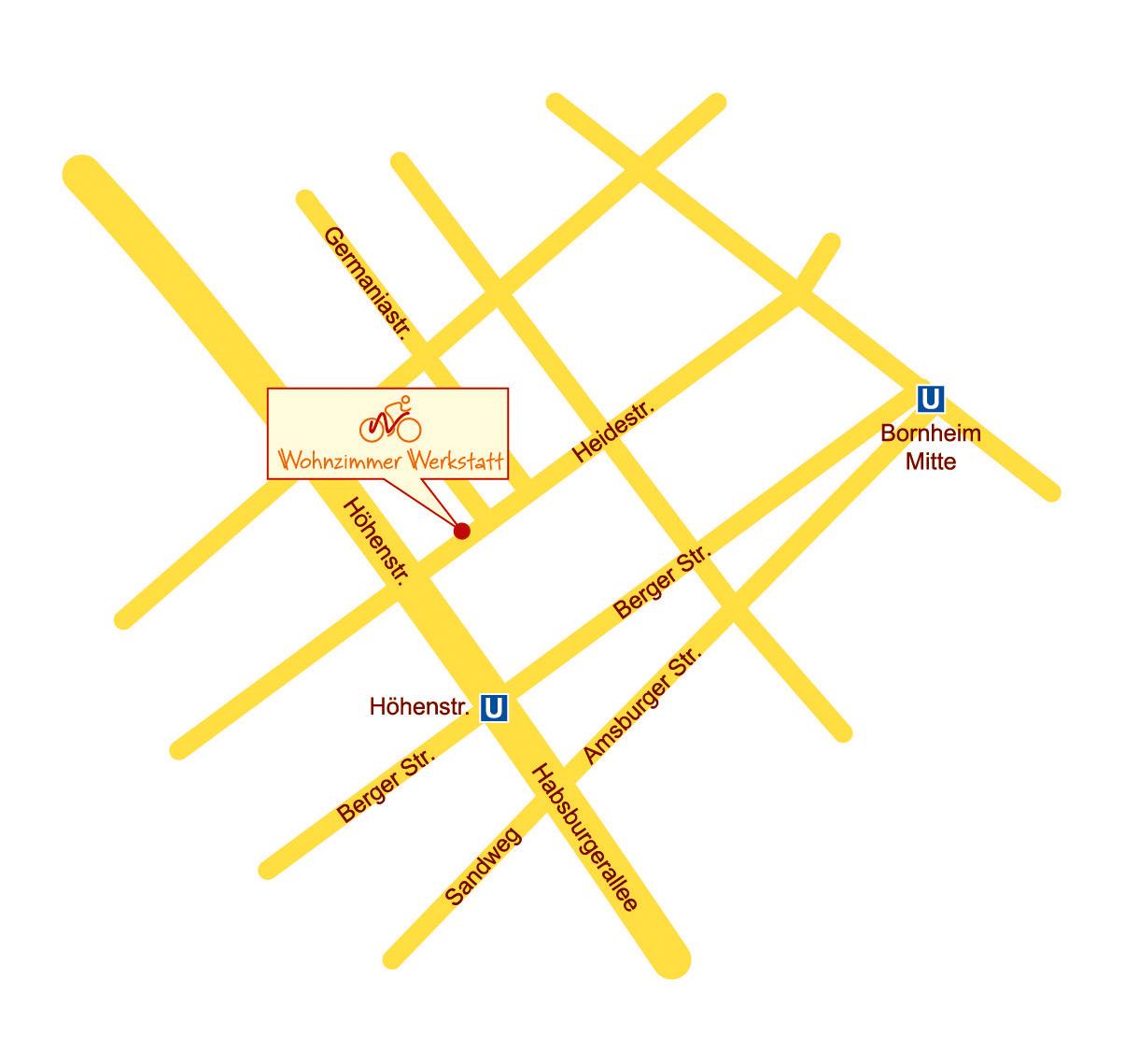 Wegeplan Willkommen Werkstatt Wohnzimmer